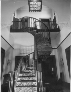 Staircase from the entrance door