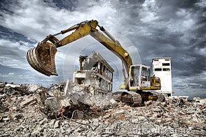 bulldozer-removes-debris-demolition-derelict-buildings-old-42166544